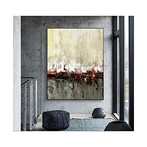 TXW Abstractacrylic Vintage Art Paintings for Living Room Wall Pictures Home Decoration,120X180cm No Frame,White