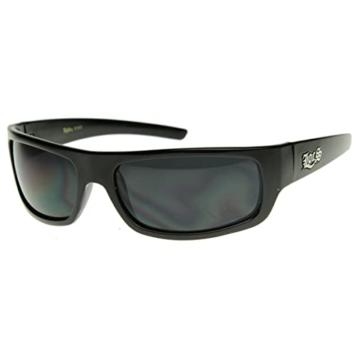e3df51d9e15a55 Image Unavailable. Image not available for. Color  Original LOCS Hardcore  OG Gangsta Wraparound Sunglasses w Dark Lens ...