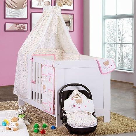 Babybettset Schlafsack Fu/ßsack Krabbeldecke Bett-Tasche L/ätzchen Wickelauflage Typ:Bett-Tasche