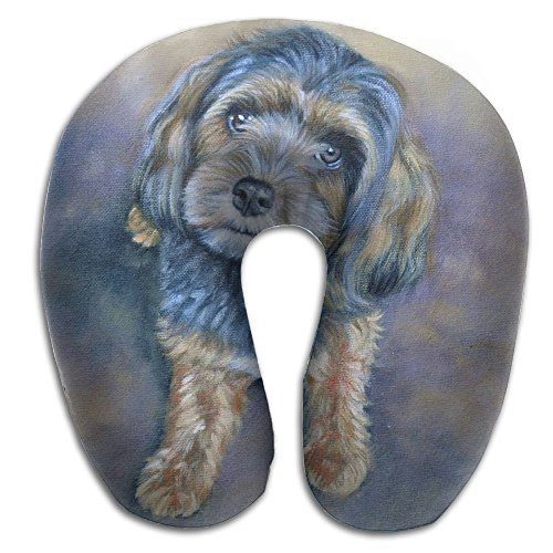 U-Shaped Neck Pillow Dog Bailey Pillows Soft Convertible Portable Multifunctional For Travel Reading And Sleeping