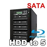 Spartan 500GB Hard Drive to 5 Target Multiple Blu Ray Disc Copy Duplicator with USB connection to PC (Standalone Video & Audio Disc Duplication System) B05-SSPPRO