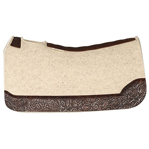 NRS 5 Star Equine 5 Star Cowboy Tool Saddle Pad with Wear Leathers (5 Star Pads)