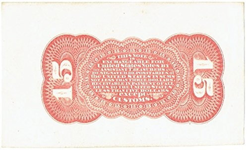 1863 Fifteen Cent United States Fractional Currency Proof Reverse