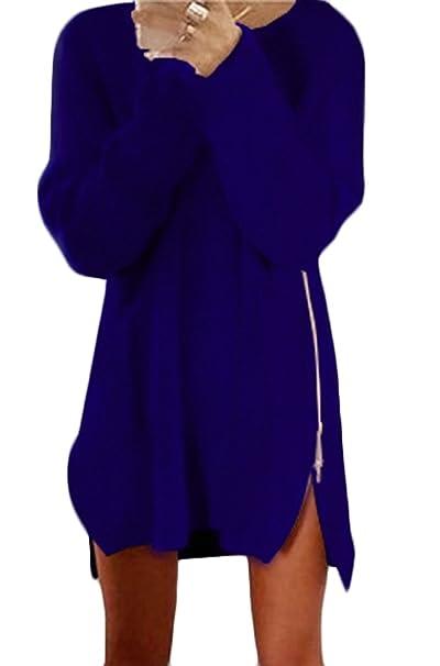 Mujer Vestidos De Fiesta Cortos Vestido De Punto Tallas Grandes Niñas Elegantes Manga Larga Juveniles Marcas