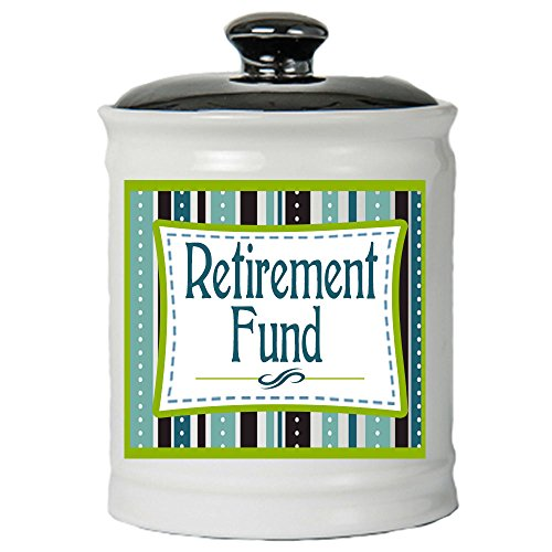 Cottage Creek Retirement Gifts Retirement Fund Ceramic Jar/Retirement Gifts for Women Retirement Fund Piggy Bank Retired Coin Bank/Retired Gifts [White]