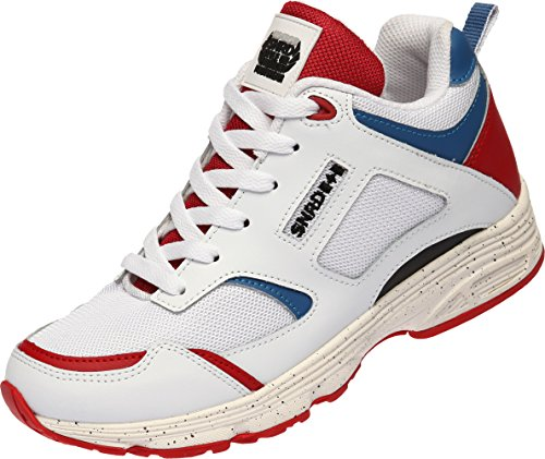 Unisex Shoes SNRD Red Taller 713 Insole Sneakers Casual Blue Fashion Elevator White qF51f8Fw