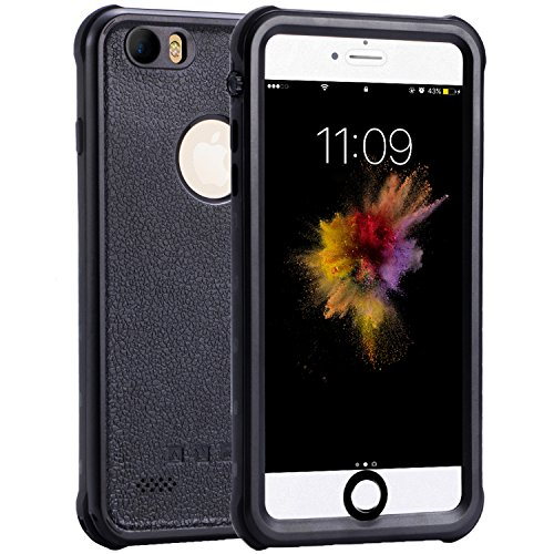 iPhone 6/6s Waterproof Case, Outdoors IP68 Certified Clear Sound Water Proof Cover, Shockproof Dirtproof Snowproof SlimFull Body Protection Case with Touch ID for Apple iPhone 6/6s (4.7 inch) ()