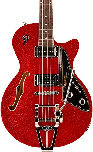 Red Sparkle Electric Guitar (Duesenberg USA Starplayer TV Semi-Hollow Electric Guitar Red Sparkle)