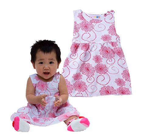 White Batik Floral Dress - 5