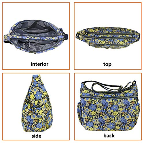 Bag Volcanic Women Handbags Multi 8981 Waterproof pattern Corss large 2 for Shoulder Purse body Travel Nylon Pocket Rock fqIrnFqB