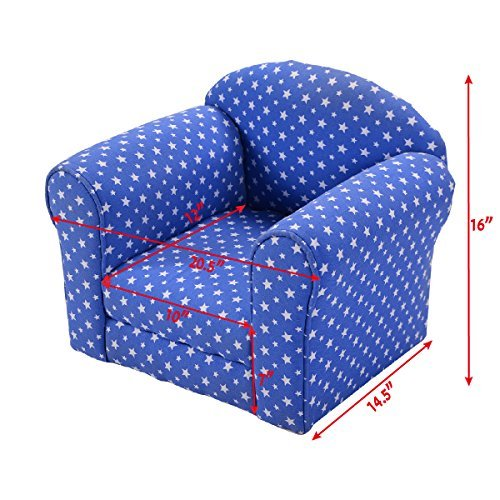 Costzon Kid Sofa Armrest Chair w/Stars (blue)