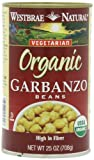 Westbrae Garbanzo Beans, Organic, 25-Ounce (Pack of 6)