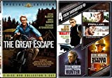 Steve McQueen Collection The Great Escape 2 Disc Special Edition & Bullitt / Papillon / The Hunter / Nevada Smith DVD Action Pack 5 Movie Set