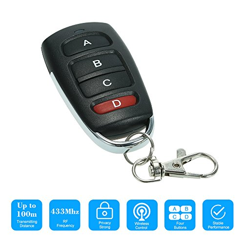OWSOO 433MHz Touch Switch Copying Transmitter Cloning Duplicator 4 Buttons Garage Opener Electric Garage Door Remote Control Key Fob