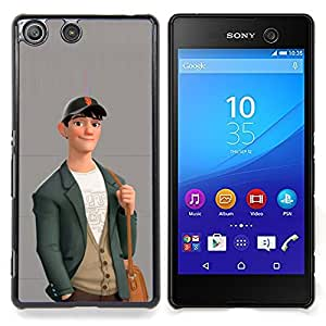 - Boy Cute Friendly Art Drawing Casual Fashion/ Duro Snap en el tel????fono celular de la cubierta - Cao - For Sony Xperia M5