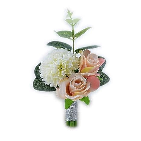 Amazon.com: Broche para novios de boda, boutonniere ...
