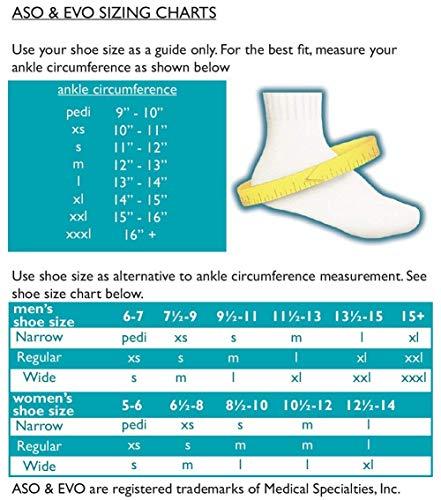 Med Spec ASO Ankle Stabilizer (Medium, 4 Pack, White) by Med Spec (Image #1)