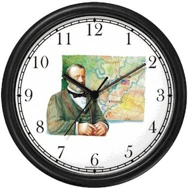 Amazon Com Ulysses S Us Grant 18th Us President Wall Clock By Watchbuddy Timepieces White Frame Kitchen Dining