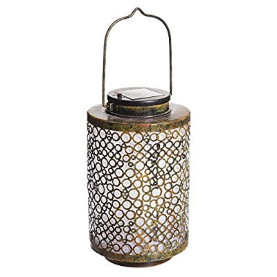 Abstract Circles Solar Lantern with Handle
