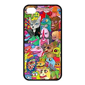 iPhone 4/4S Case, Crazy Trippy Hard TPU Rubber Snap-on Case for iPhone 4 / 4S