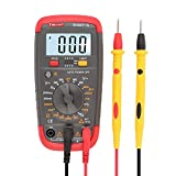DMiotech Digital Multimeter Multi Tester AC / DC Voltage Current Temperature Test Resistance Continuity Diode Transistor hFE Meter with LCD Display Smart-A