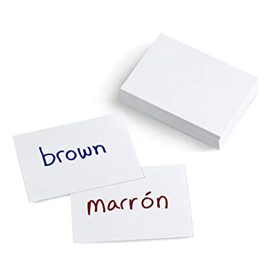 "Hygloss Products Ultra White Blank Flash Cards - Great Study Tool - Multitude of Uses - 2"" x 3"" - 100 Cards : Office Products"
