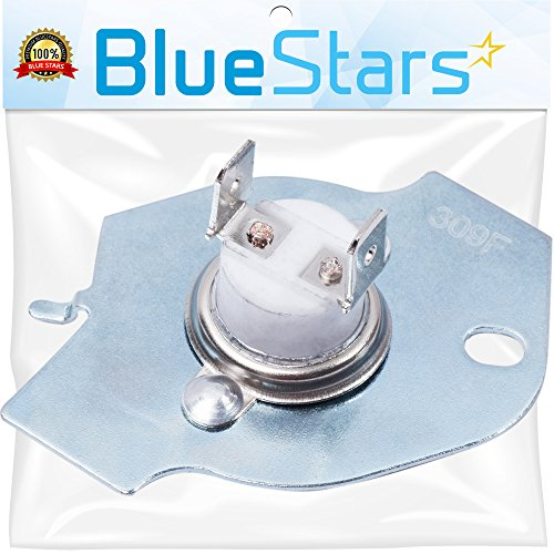 3977393 Thermal Fuse replacement part by Blue Stars - Exact Fit for Whirlpool Kenmore Maytag ()