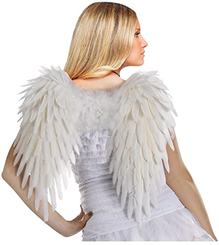 Deluxe Feather Angel Wings (White)