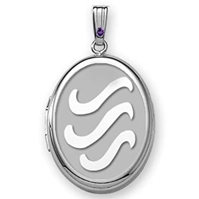 Amazoncom Picturesongoldcom Sterling Silver H2o Oval Locket 58