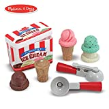 Melissa & Doug Scoop & Stack Ice Cream Cone Magnetic Pretend Play Set, Play Food, Encourages Social Interaction, 7 Pieces, 10.5″ H × 13″ W × 3.5″ L