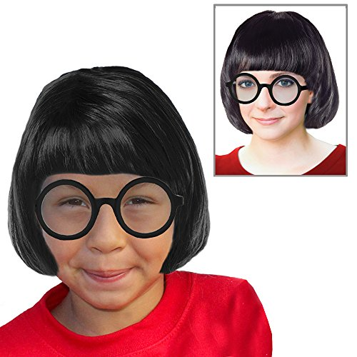 Marcie Costume Set Marcie Peanuts Costume Marcie Wig Velma Wig Velma Costume ()