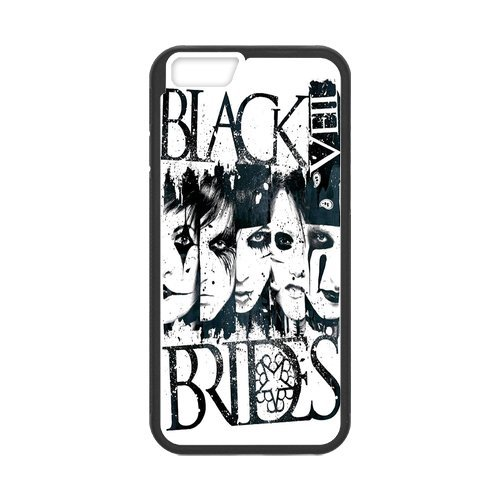 Fayruz- Personalized Protective Hard Textured Rubber Coated Cell Phone Case Cover Compatible with iPhone 6 & iPhone 6S - Black Veil Brides F-i5G616