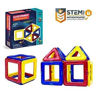 Magformers Creator Primary Colors Set (14-Pieces) Magnetic    Building      Blocks, Educational  Magnetic    Tiles Kit , Magnetic    Construction  STEM Set