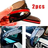 CHAMPLED® 1pair Transparent Black Car Rearview Mirror Rain Water Eyebrow Cover Side Shield For TOYOTA LEXUS ACURA NISSAN MITSUBISHI SUBARU MAZDA