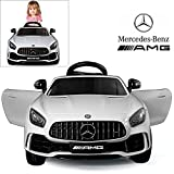 Mercedes Benz AMG GTR Electric Ride On Car with Remote Control for Kids | 12V Power Battery Official Licensed Kid Car to Drive with 2.4G Radio Parental Control Opening Doors Pink