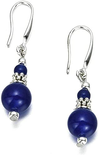 Gift Jewelry Blue Lapis Sterling Silver Plated Stud// Earring 12 mm Handmade Jewelry