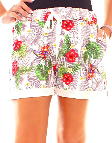 Young Fashion Hibiskus Easy palme Pantaloncini Donna 7adTwP