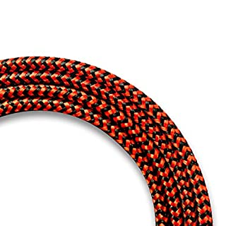 CUGUNU Nylon Braided Phone Charger Cable, 3 Pack 6FT USB Charging Cord (Black Red)
