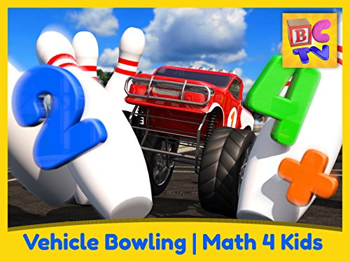 Vehicle Bowling Math - Learn Adding & Subtracting for Kids