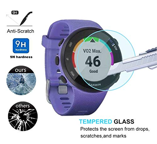 2pack Ultra-Thin 9H Hardness Scratch Resistant Screen Protector Film forGarmin Forerunner 945 Maxhood for Garmin Forerunner 945 Tempered Glass Screen Protector,