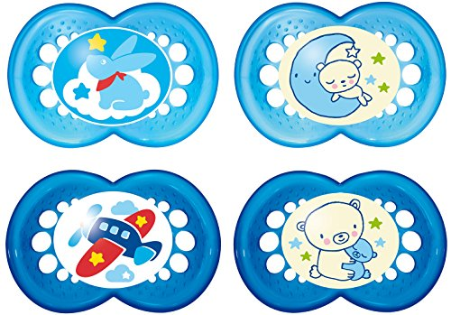 MAM Babyartikel 99970011 Day & Night Schnuller - Set 6-16 Boy