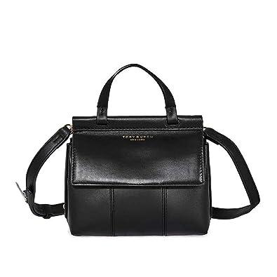 1a4660be31 Amazon.com: Tory Burch T Mini Ladies Black Leather Satchel 36777-001: Shoes
