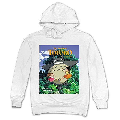 Ninva White My Neighbor Totoro 100% Cotton Hoodies For Guys Size Small