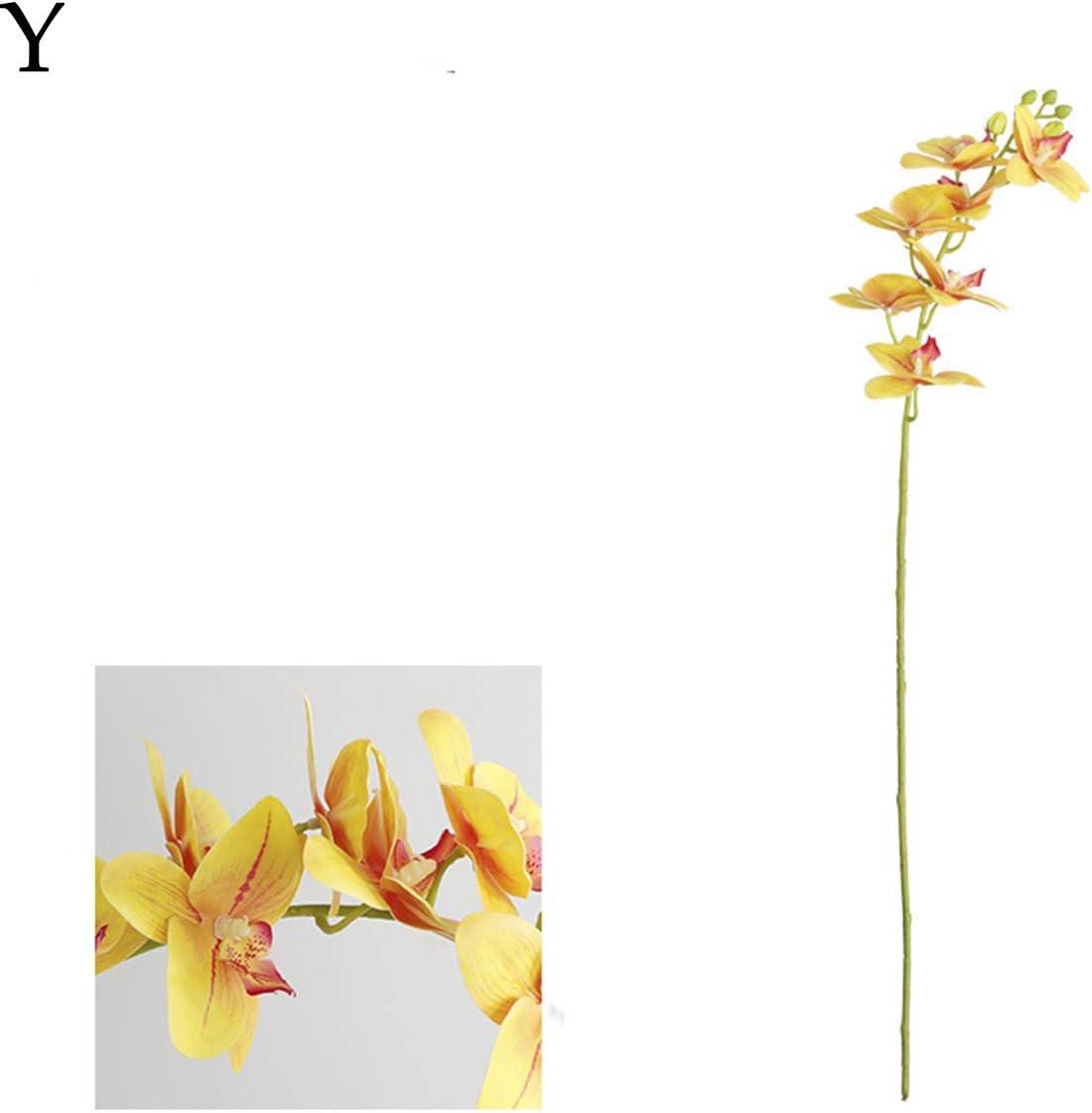 Dark Pink JDV 70 cm DIY Real Touch Orqu/ídea Artificial Flores Falsas Oficina Hogar Arreglo de Boda
