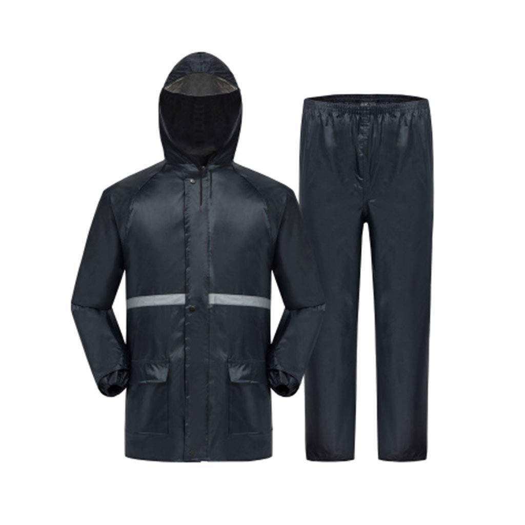 Marine XXXL WSWJJXB Un Pantalon de Pluie imperméable Convient à Un Cycliste Adulte Cycliste