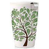 Tea Forte KATI Cup Loose Leaf Tea Brewing System, Green Leaves