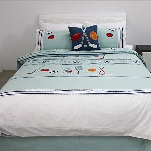 LELVA Soccer Cotton Bedding Sets, Children's Cartoon Bedding Sets, Sports Bedding Sets, Kids Bedding Boys, Twin Full Size (Full) by LELVA