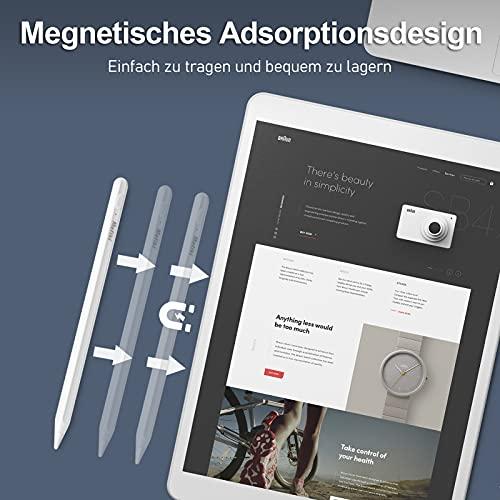 Nafiki iPad Stift mit Palm Rejection, Hochpräziser Feiner Spitze, Magnetische, Aktiver Stylus Pen für iPad, Touchscreen Eingabestift Kompatibel mit iPad 6/7/8, iPad Pro 11\'\' 12.9\'\', Air 3/4, Mini 5