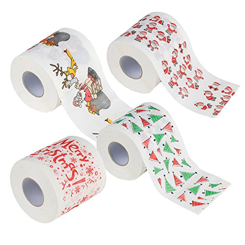 THEE Merry Christmas Hand Roll Towel Santa Claus 4pcs