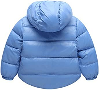 Gemini/_mall Baby Padded Jacket Quilted Coat Boys Girls Kids 1-6 Year Hooded Winter Warm Outwear Clothes